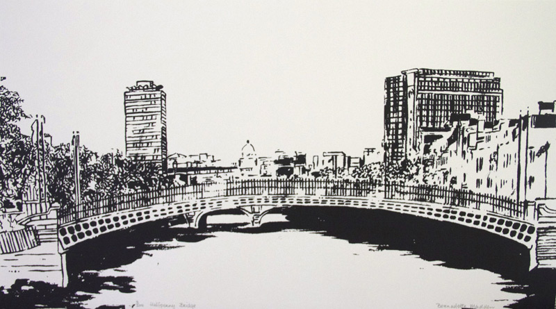 half penny bridge so fine art editions original fine art print
