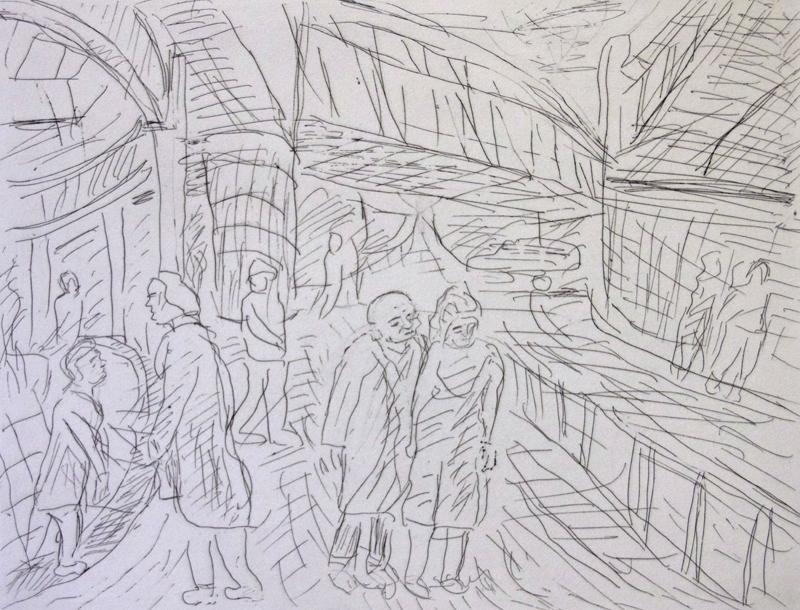 Outside Kilburn Underground Station