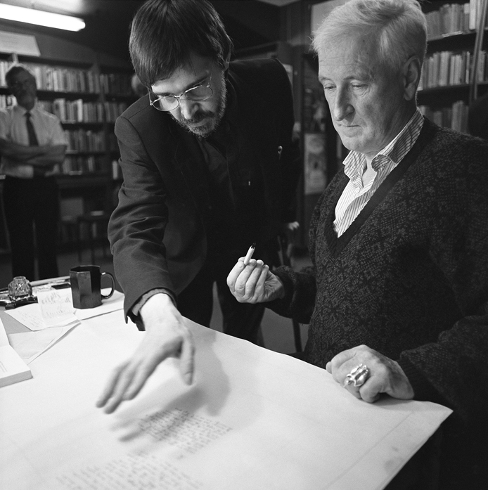 Inscription of the Poems into The Great Book – Gene Lambert and John Montague