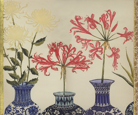 Nerines and Chrysanthemums