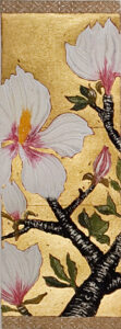 Jean Bardon - Detail Magnolia III - Etching with gold leaf