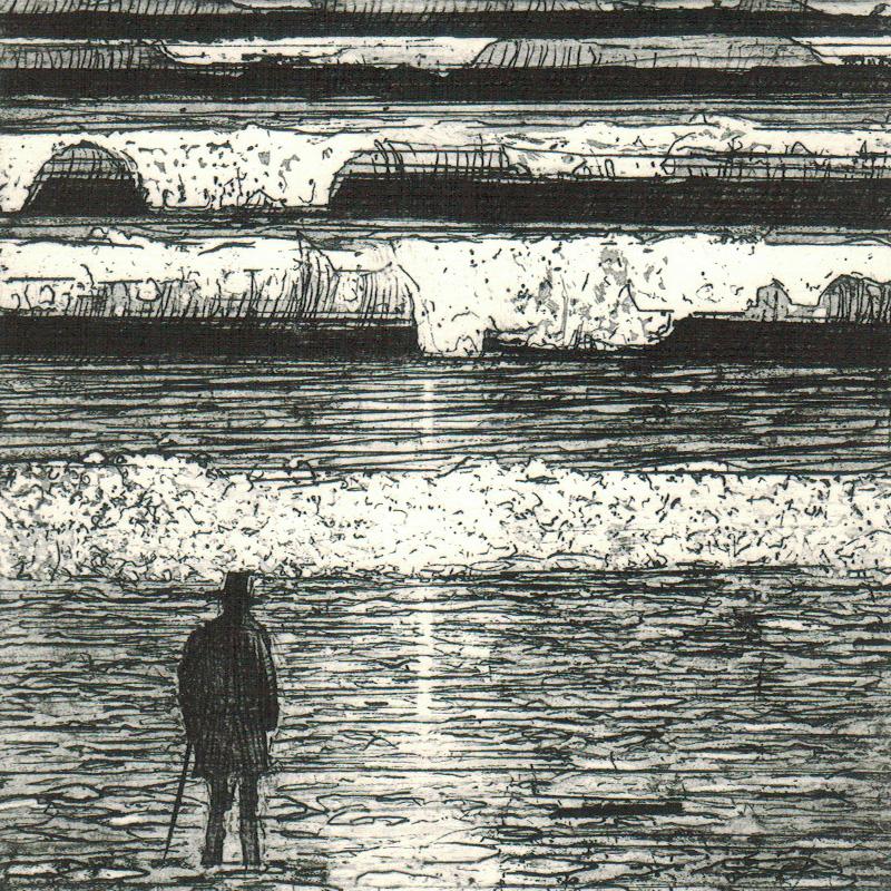 Artist Observing Sunrise