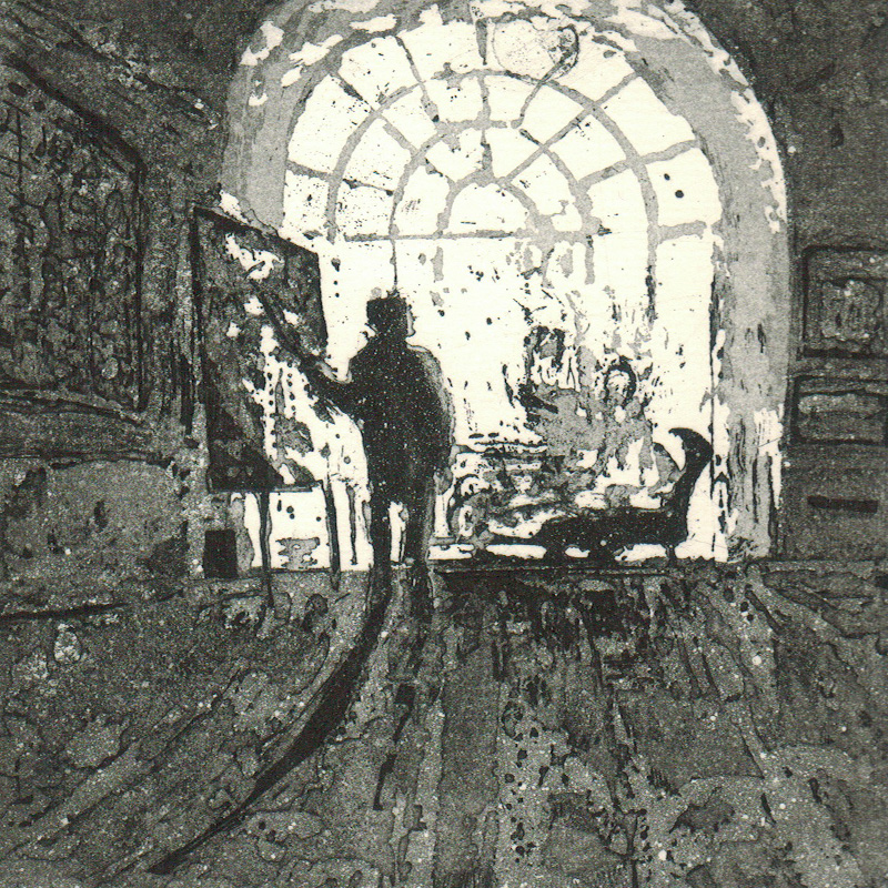 Painting in Front of Admirers