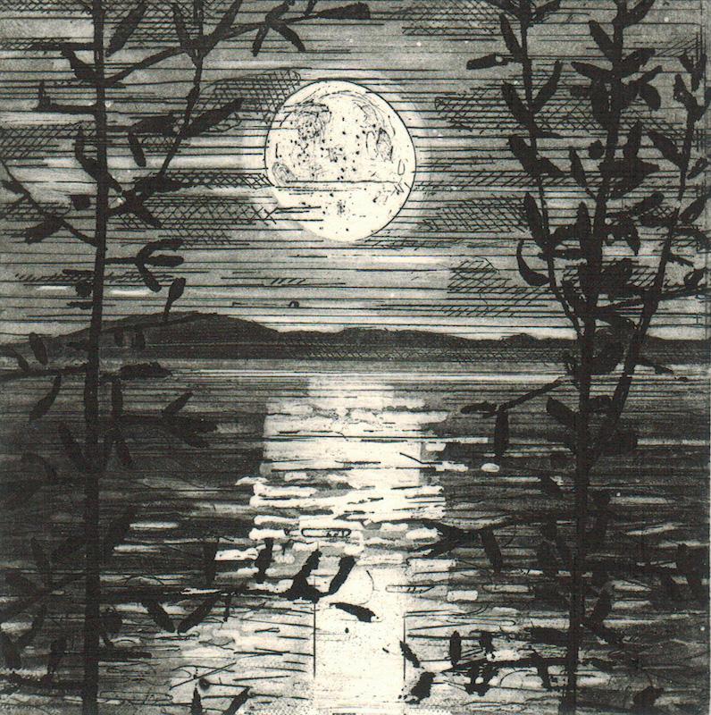 Dusk, The Moon Rising