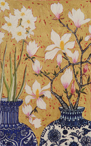 Paperwhites and Magnolia