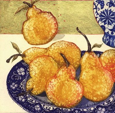Pears with Gold Leaf