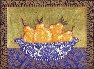 Jean Bardon - Pears Lapis lazuli and gold