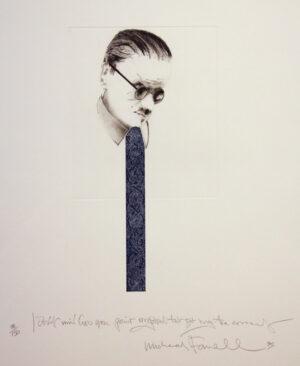 Michael Farrell - Untitled (Blue Tie)