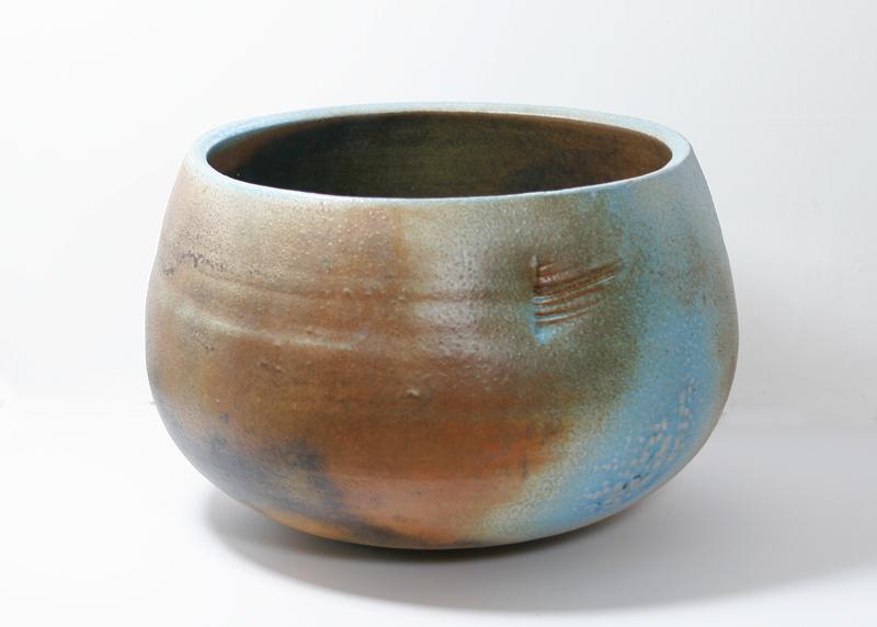Deep Blue & Russet Round Vessel