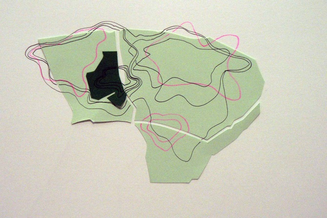 Susan Leen - Green Collage and Contour