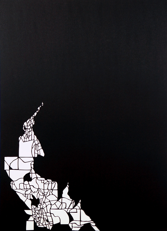 Susan Leen - Black Cut Out Map