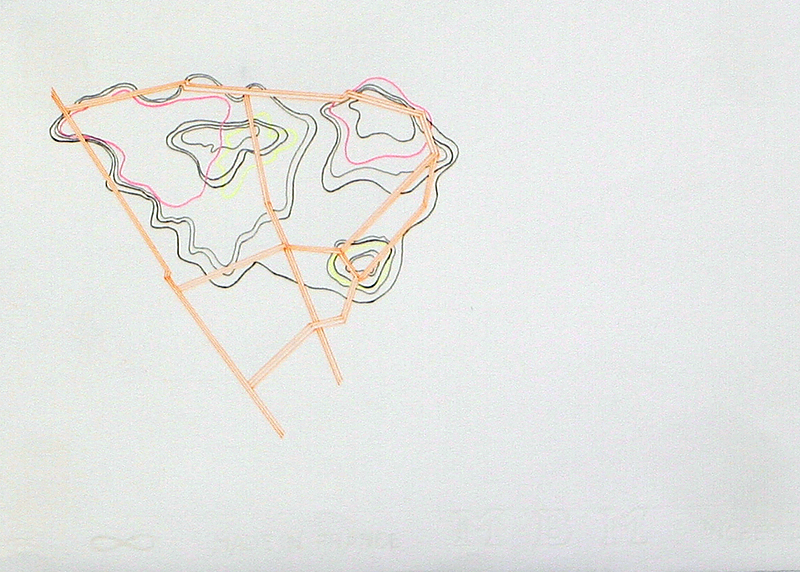 Susan Leen - Orange Contour - SOLD