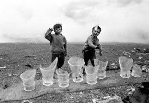 Fergus Bourke - The Bottle Throwers - Archival Pigment Print