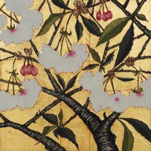 Jean Bardon - Cherry Blossom with gold leaf