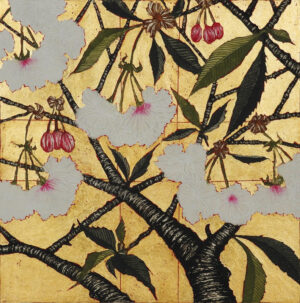 Jean Bardon - Cherry Blossom with gold leaf