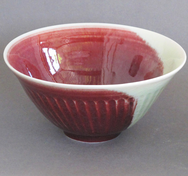 Fluted Porcelain Bowl