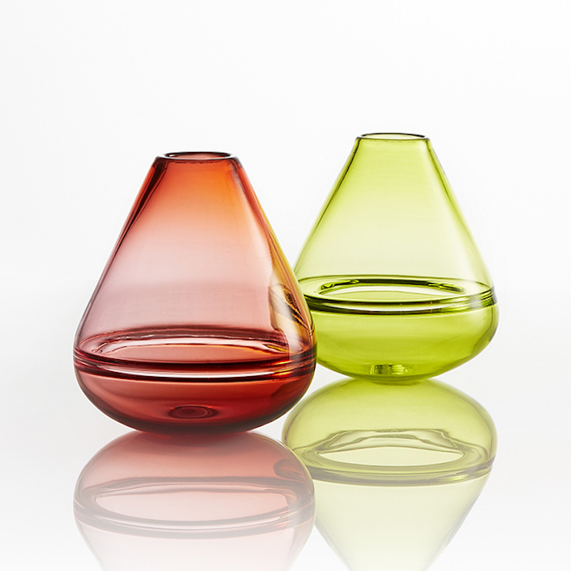 Double bubble wobble vases