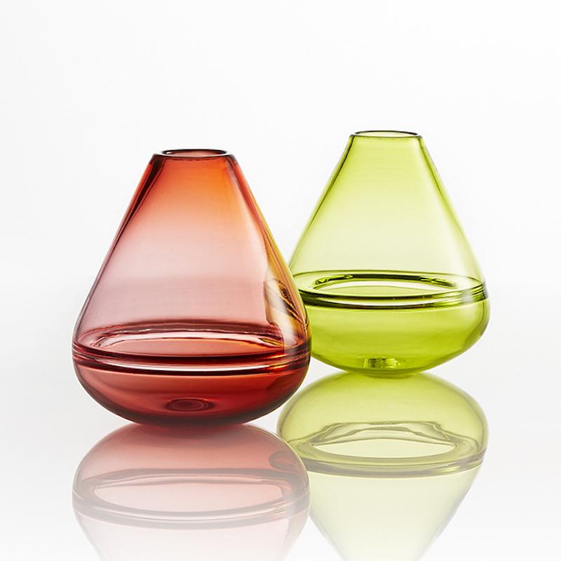 Double bubble wobble vases