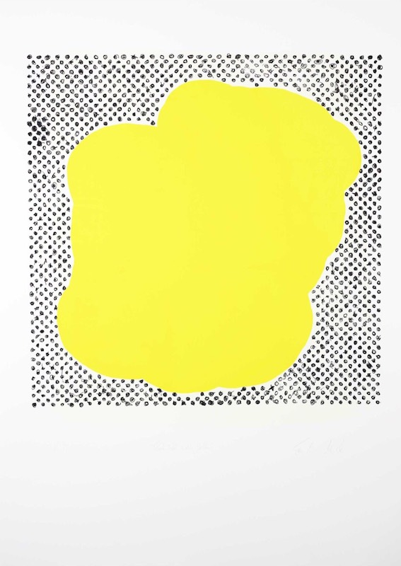 Black dot with Yellow