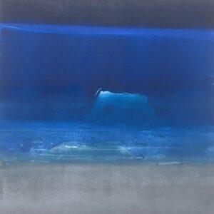 night passing baffin bay - monotype 38 x 38 : 2020 WEB