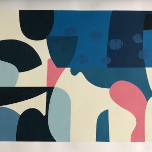 Drop 70cm h x 100cm w Mary O'Connor Limited edition silk screen print