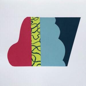 Lean.jpg 20cm hx 25 w Mary O'Connor Limited edition silk screen print