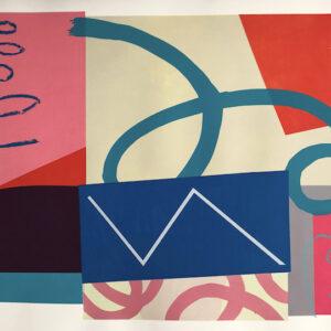 Tilt 70cm h x 100cm w Mary O'Connor Limited edition silk screen print
