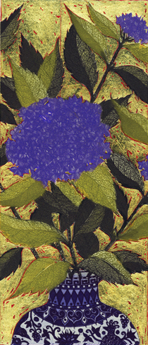 Hydrangea with Gold Leaf