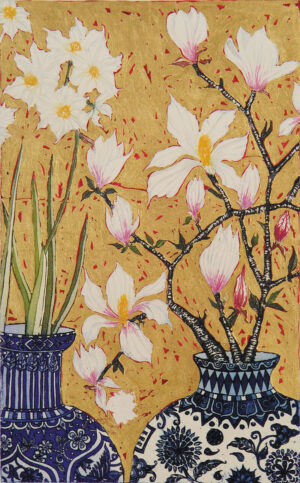 Jean Bardon - Paperwhites and Magnolia