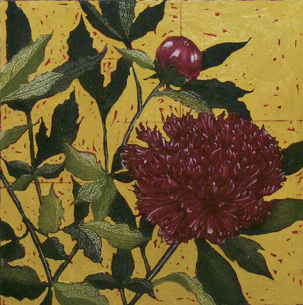 Jean Bardon - Paeony Rose with Gold Leaf