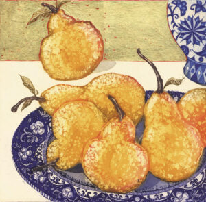 Jean Bardon - Pears with Gold Leaf