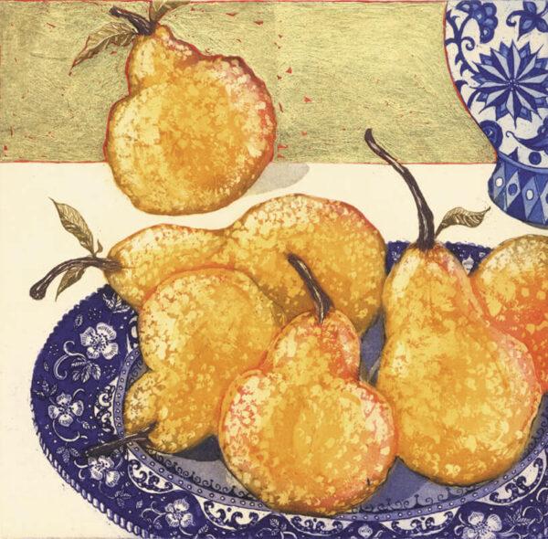 Jean Bardon - Pears with Gold Leaf