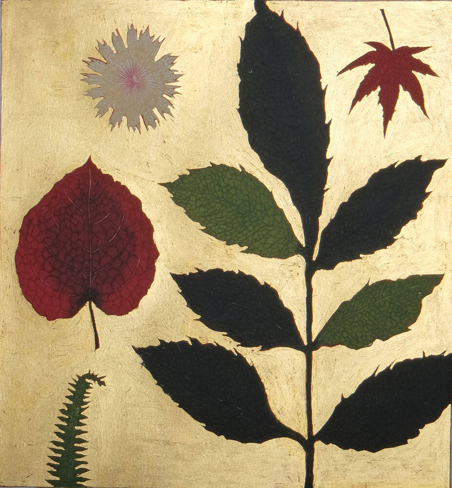 Pressed flower and Autumn leaves